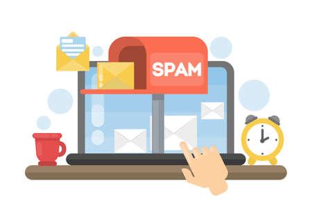 Spam concept illustration.