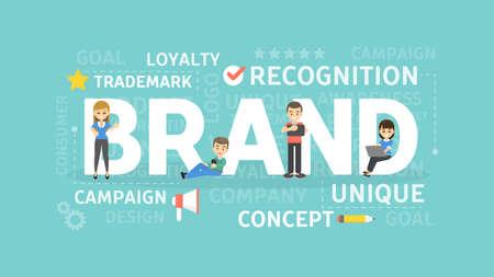 Brand concept illustration. Illustration