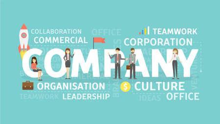 Bedrijf concept illustratie. Idee van bedrijf, organisatie en teamwork.