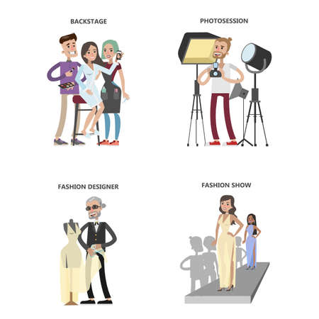 Fashion show set Illustration