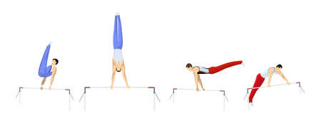 Gymnastics with bars set.