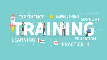 Ilustración del concepto de entrenamiento.
