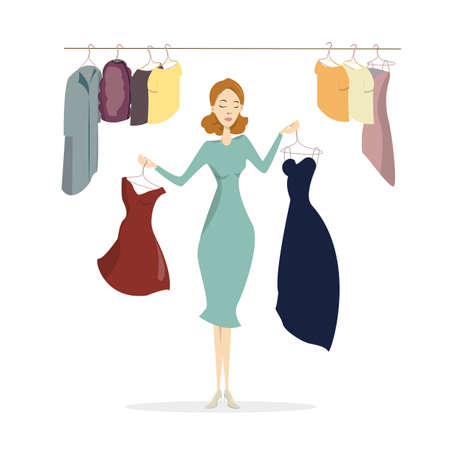 Woman at wardrobe. Stock Photo