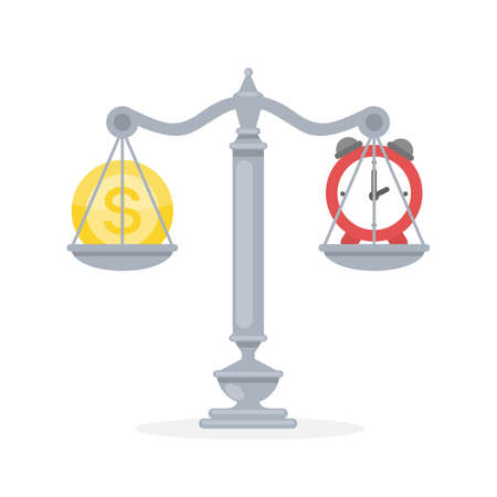 Balance between money and time.
