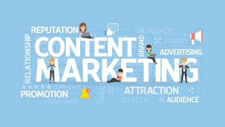 Content marketing concept.