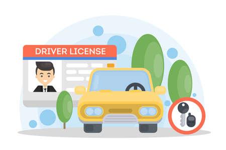 Mans prawo jazdy. Ilustracje wektorowe