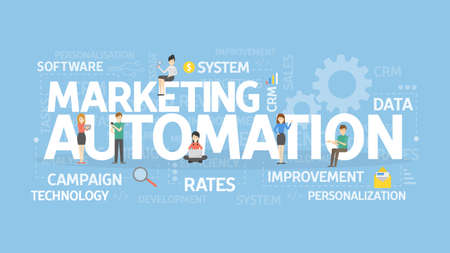 Marketing automation concept.