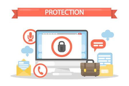 Data under protection. Illustration