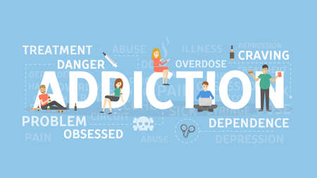 Addiction concept illustration. Stock Vector - 88525865