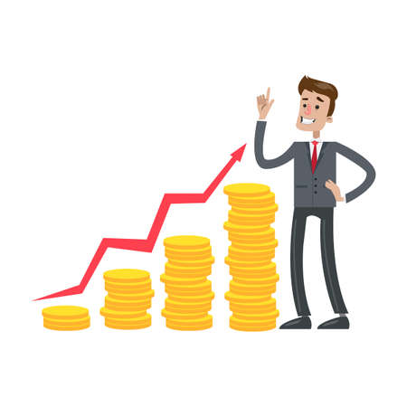 お金の成長と実業家。
