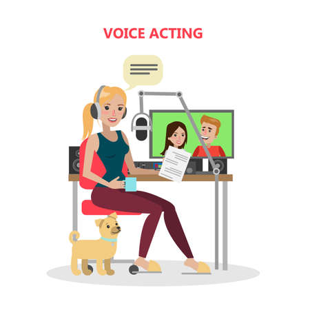 Voice acting woman.