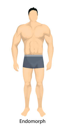 Male body types. Endomorph body type of man.