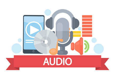 home theater: Audio concept illustration.