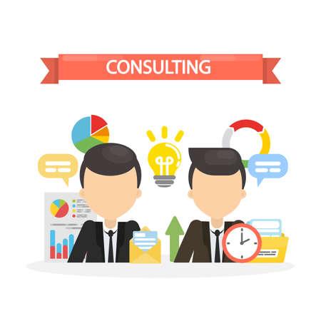 financial adviser: Consulting concept illustration. Illustration