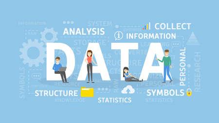 Data concept illustration. Ilustração