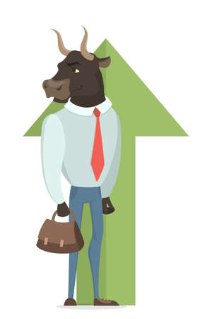 Bull stock market. Illustration