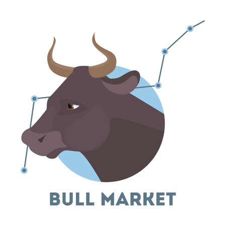 Bull stock market. Illustration