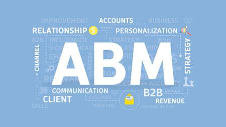 ABM-conceptenillustratie. Stock Illustratie