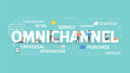 Omnichannel concept illustration. Ilustrace