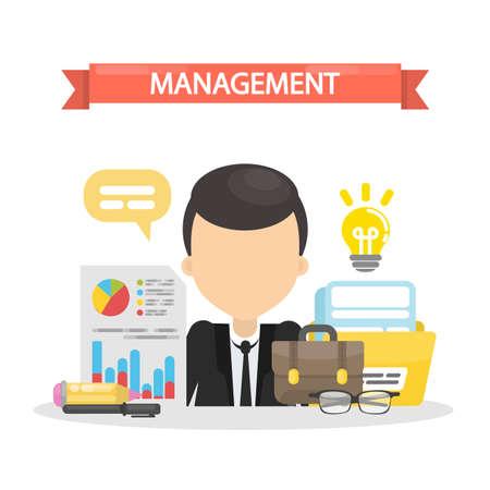Management concept illustration. Illustration