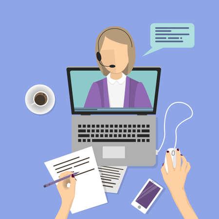 Webinar concept illustration.