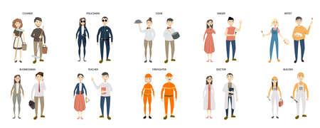 People professions set. Ilustração