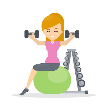 Woman doing fitness.