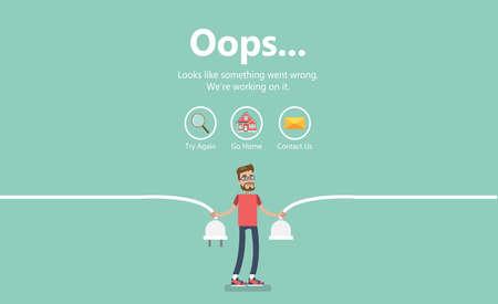 Ilustración de página de error.