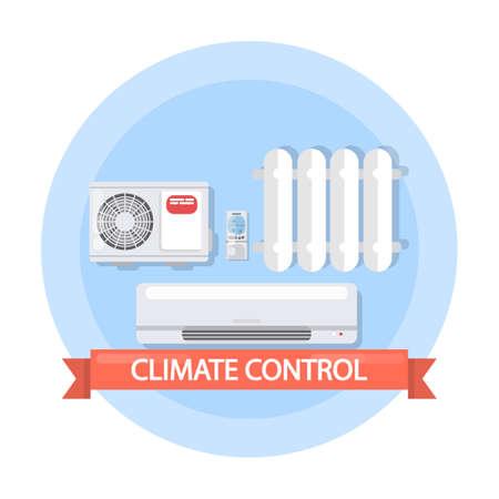 Illustration de contrôle de climat. Banque d'images - 89665327
