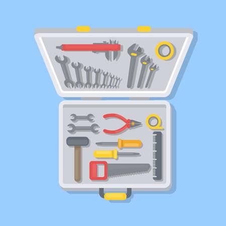 Working tools set. Illustration