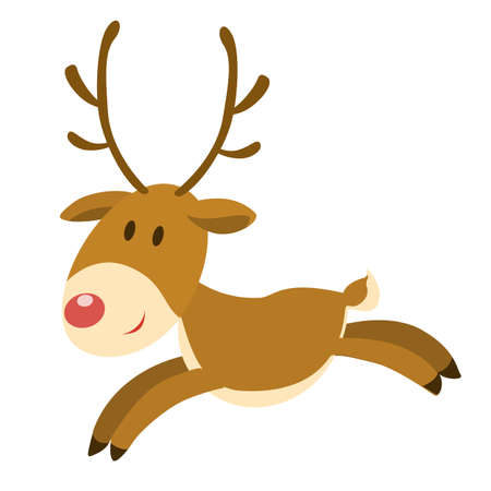 new: Isolated christmas deer.