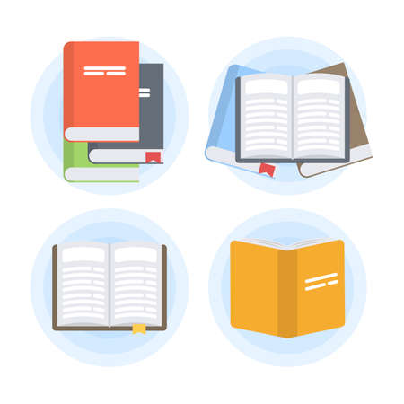 Isolated books set. Illustration