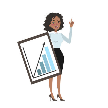 Business woman analyst.