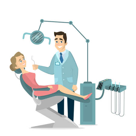 Patient and dentist.