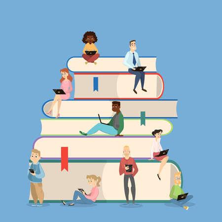 bookworm: Reading concept illustration. Illustration