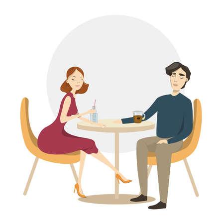 Couple on dinner.