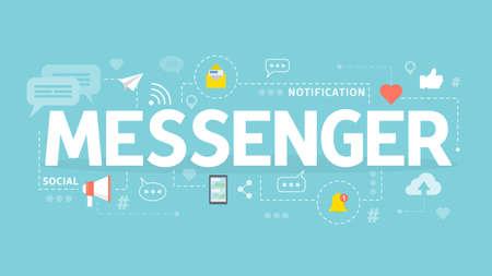 Messenger concept illustration.
