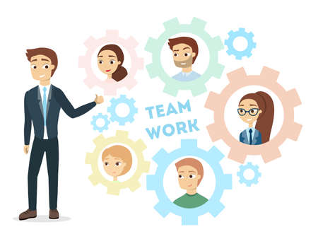 Team work gears.