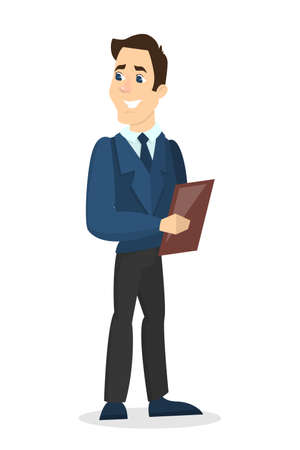 Isolated man administrator. Illustration