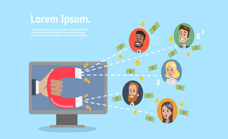 Attracting online customers. Çizim
