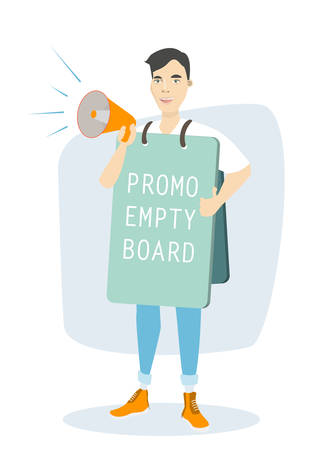 Man with promotion board.