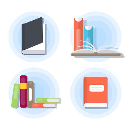 Ensemble de livres isolés. Banque d'images - 90586371