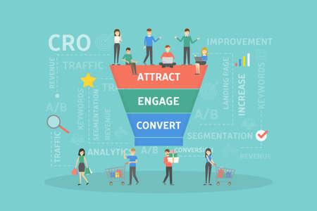 CRO concept illustration.