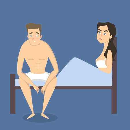 Intimate problem illustration. Stock Illustratie