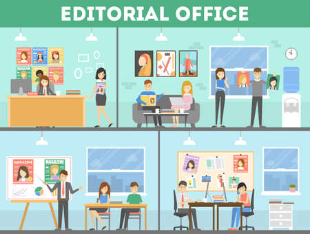 Editorial office interior.
