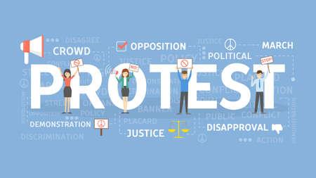 Protest concept illustration.