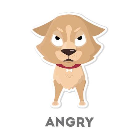 Isolated angry dog. Illustration