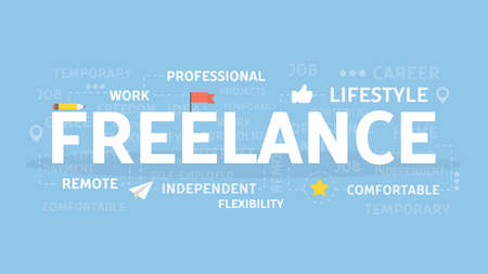 Freelance concept illustration.