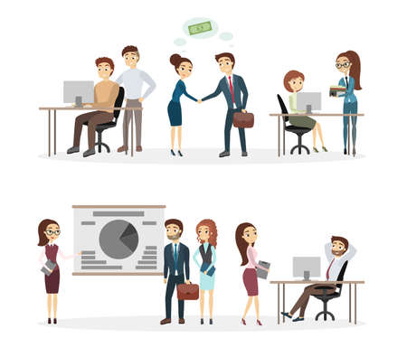 People at office. Illustration