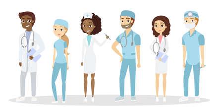 Different doctors set.
